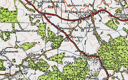 Old map of Bagfield Copse in 1919