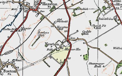 Old map of Newton in 1920