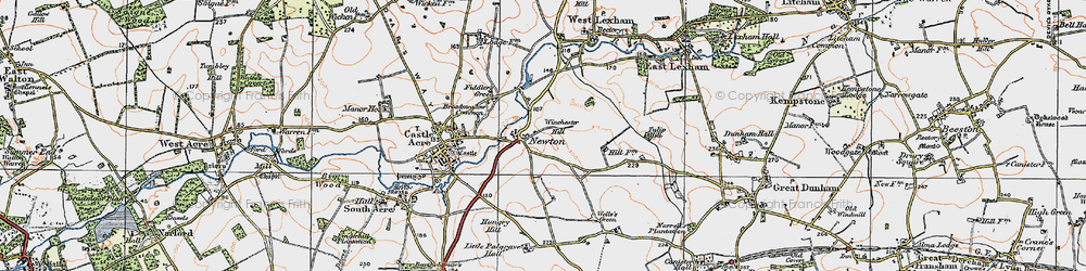 Old map of Winchester Hill in 1921
