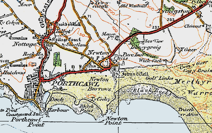 Old map of Newton in 1922