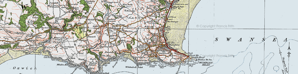 Old map of Newton in 1923