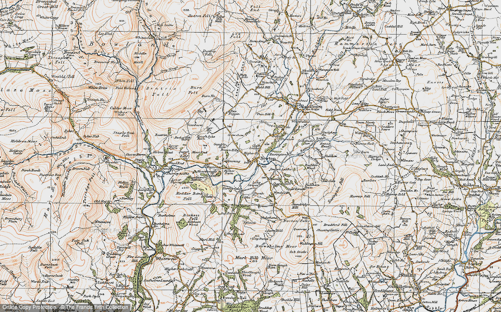 Old Map of Newton, 1924 in 1924