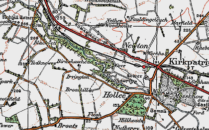 Old map of Woodhousehill in 1925