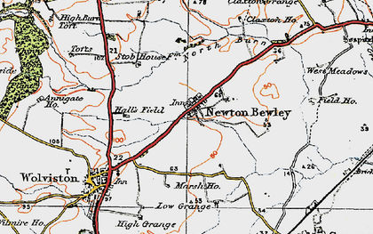 Old map of West Pastures in 1925