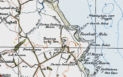 Old map of Whittingham Carr in 1926