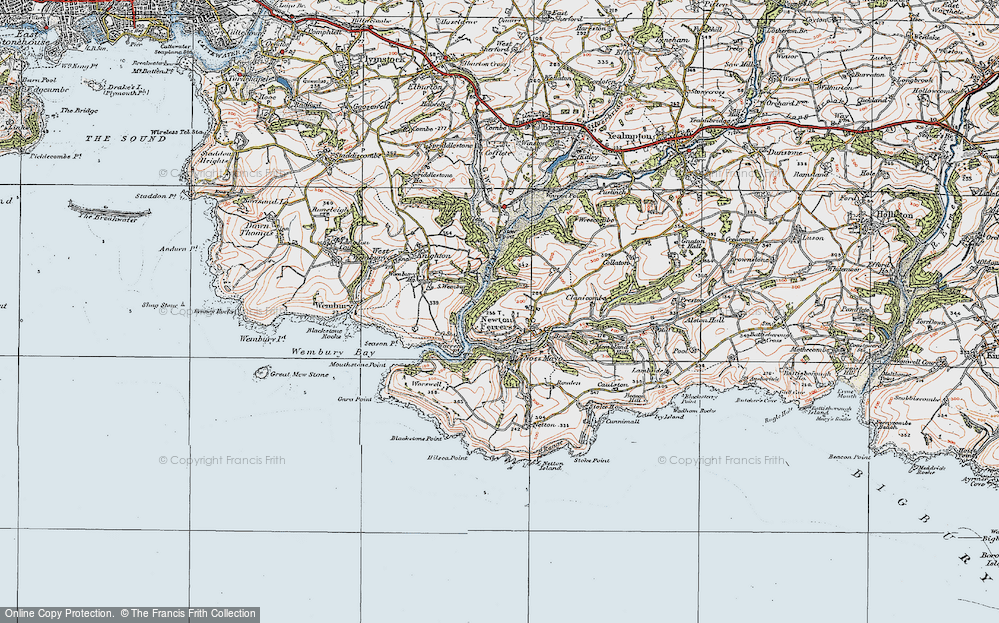 Old Maps of Newton Ferrers Francis Frith