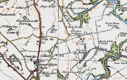 Old map of Woodwell Ho in 1925