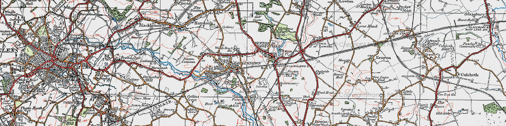 Old map of Newton-le-Willows in 1924