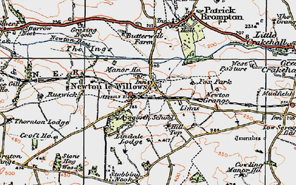 Old map of Aysgarth School in 1925
