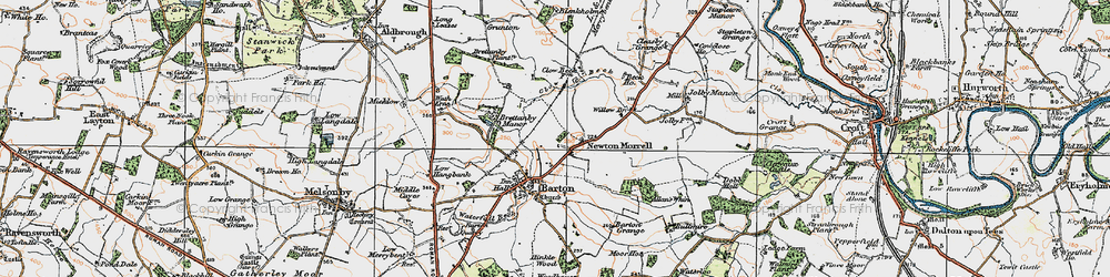 Old map of Willow Br in 1925
