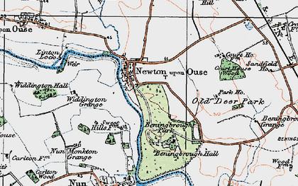 Old map of Widdington Grange in 1924