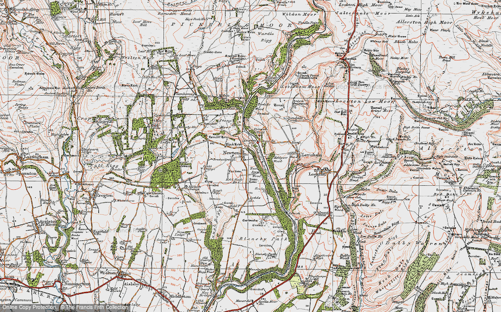 Old Map of Newton-on-Rawcliffe, 1925 in 1925
