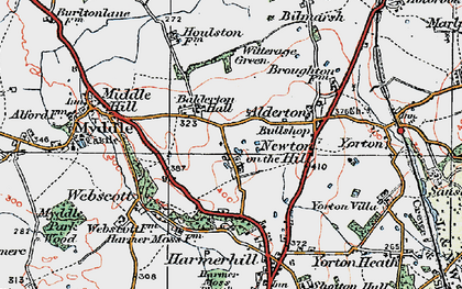 Old map of Balderton Hall in 1921