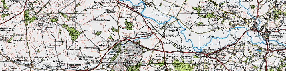 Old map of Lion Lodge in 1919