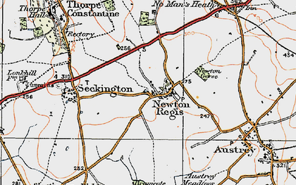 Old map of Newton Gorse in 1921