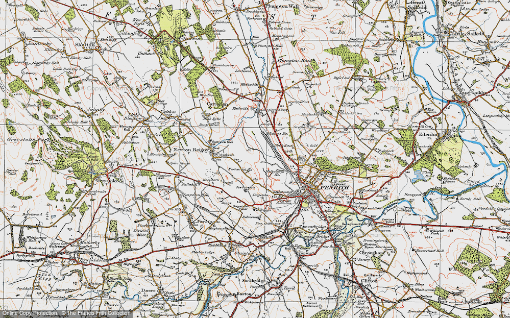 Old Map of Historic Map covering Lingstubbs in 1925