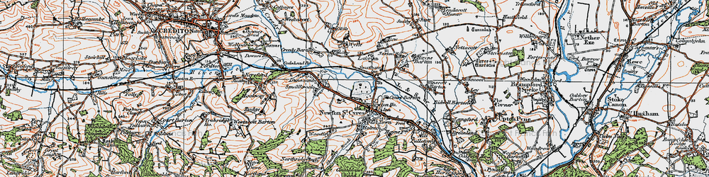 Old map of Wyke in 1919