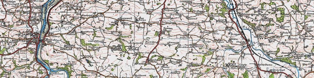 Old map of Alscott Barton in 1919