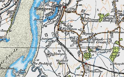 Old map of Westfield Brake in 1919