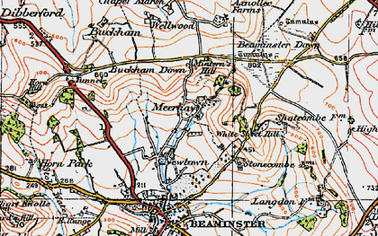 Old map of White Sheet Hill in 1919