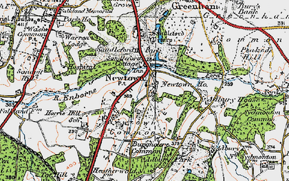 Old map of Adbury Ho in 1919