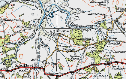 Old map of Newtown in 1919