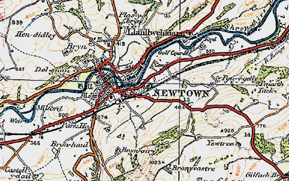 Old map of Newtown in 1920