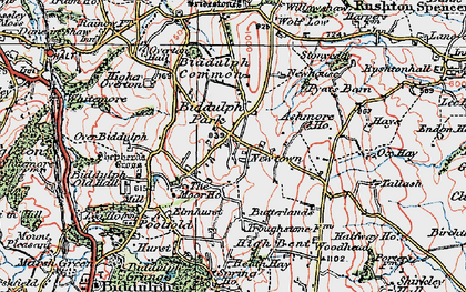 Old map of Ashmore Ho in 1923