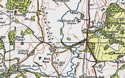 Old map of Lilburn Grange in 1926