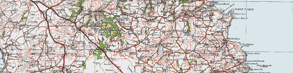 Old map of Withan in 1919