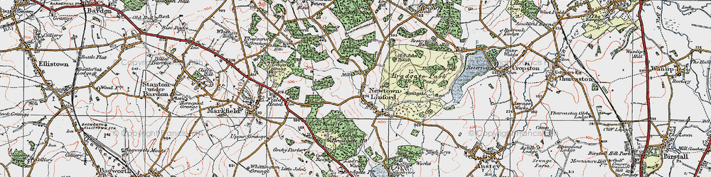 Old map of Lea Wood in 1921
