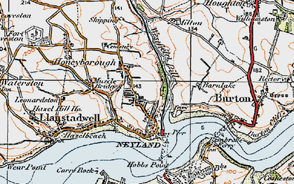 Old map of Neyland in 1922