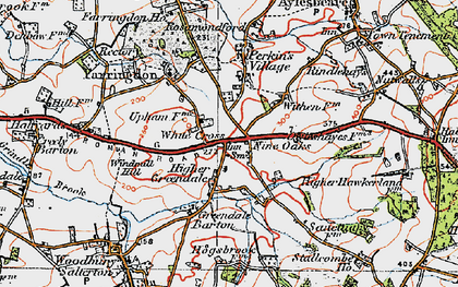 Old map of White Cross in 1919