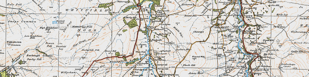 Old map of Whamlands in 1925