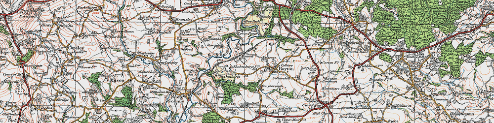 Old map of Wissett's Wood in 1920