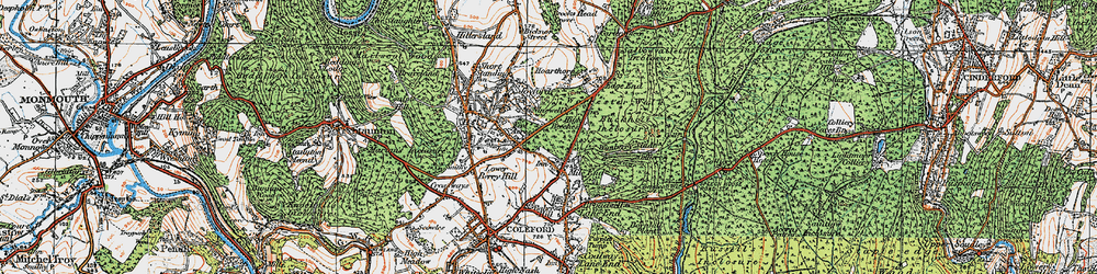 Old map of Wimberry Slade in 1919