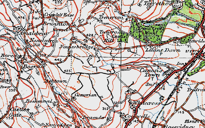 Old map of Ninnes Bridge in 1919