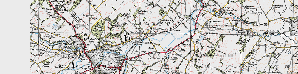 Old map of West Nisbet in 1926