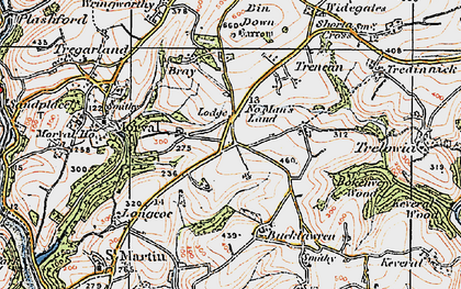 Old map of No Man's Land in 1919