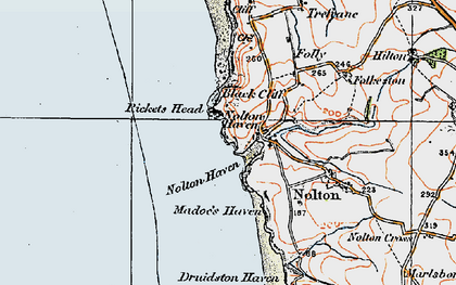 Old map of Nolton Haven in 1922