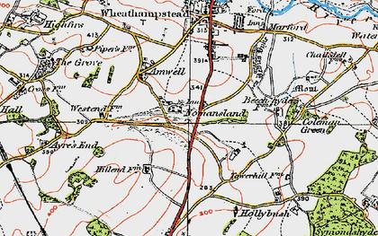 Old map of Nomansland in 1920