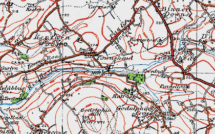 Old map of Noonvares in 1919