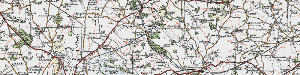 Old map of Norbury Junction in 1921