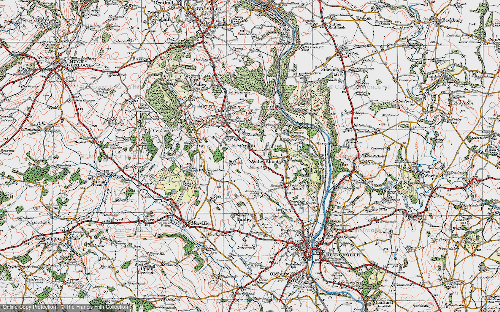 Old Map of Historic Map covering Albynes, The in 1921