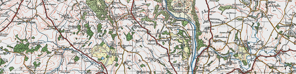 Old map of Albynes, The in 1921