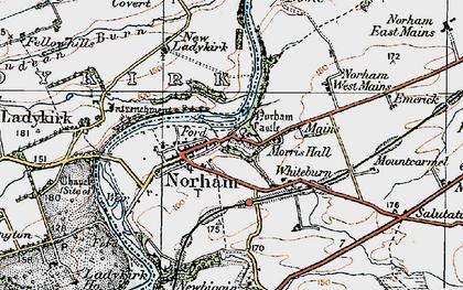 Old map of West Newbiggin in 1926