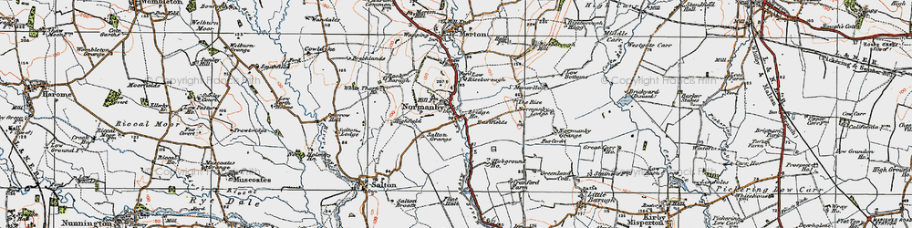 Old map of Riseborough Hall in 1925