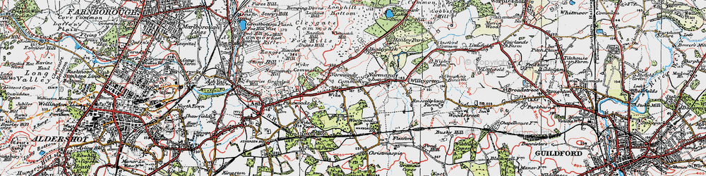 Old map of Whitepatch Hill in 1920