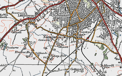 Old map of Normanton in 1921