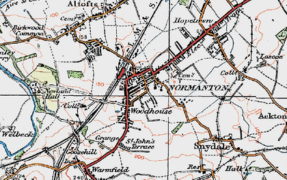 Old map of Normanton in 1925